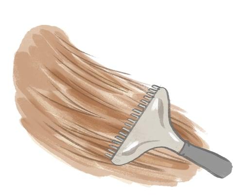 dog-brushing-combing-fur